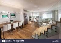 Modern House. Modern open plan living room and dining area ...