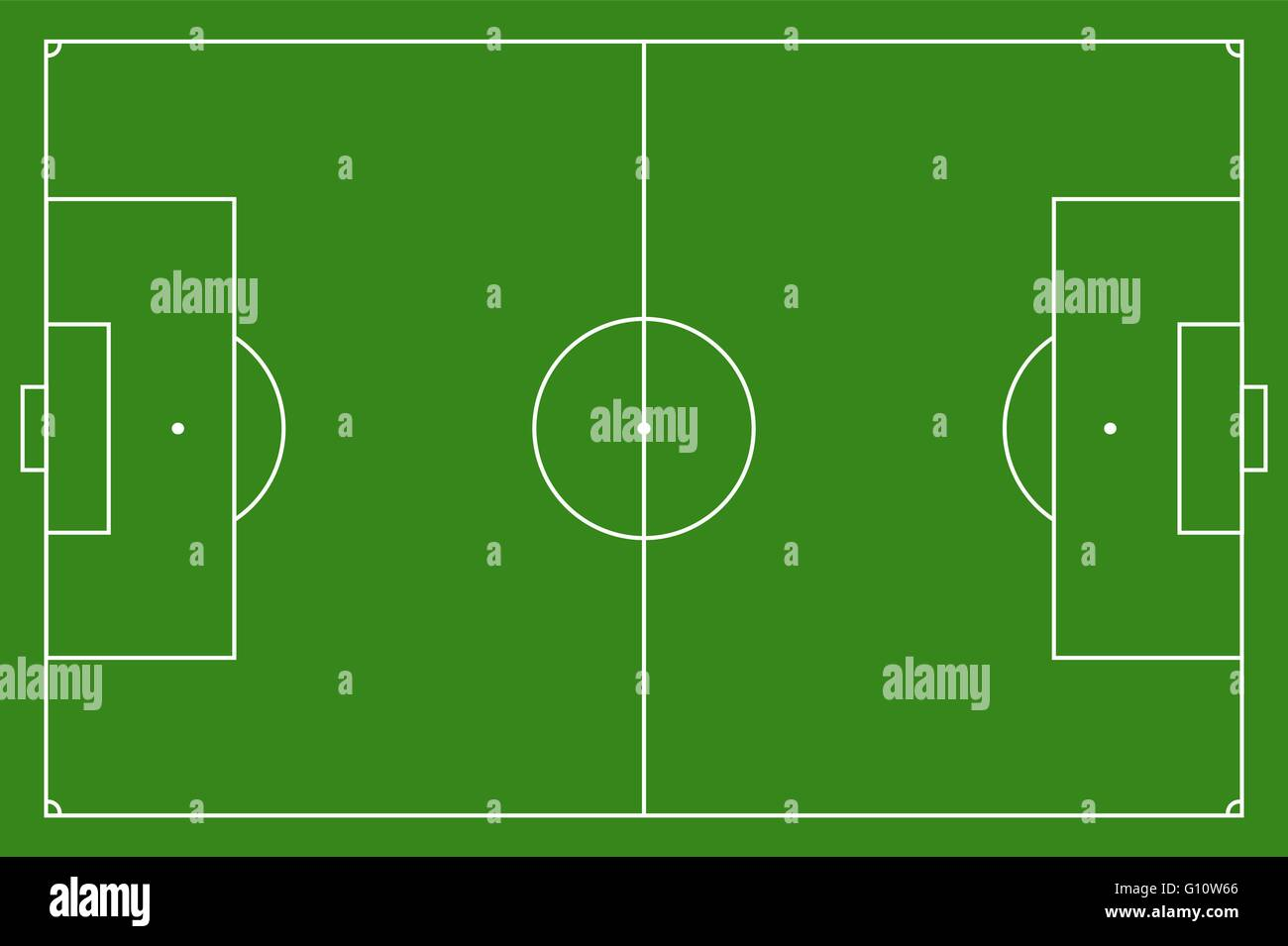 diagram of football ground with measurements radio wiring soccer field vector illustration