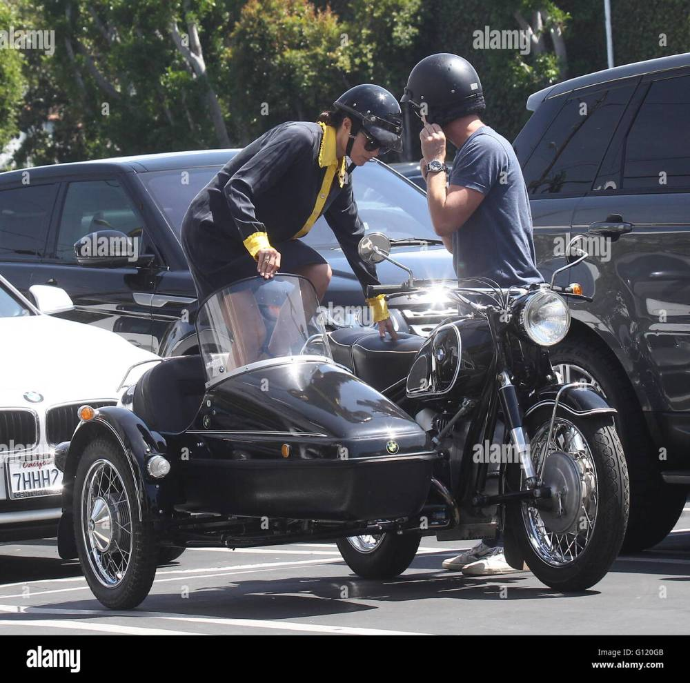 medium resolution of selma blair takes a ride in a sidecar of a vintage bmw motorcycle with a male