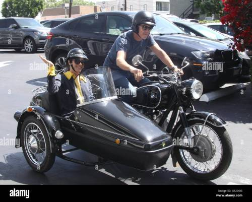 small resolution of selma blair takes a ride in a sidecar of a vintage bmw motorcycle with a male
