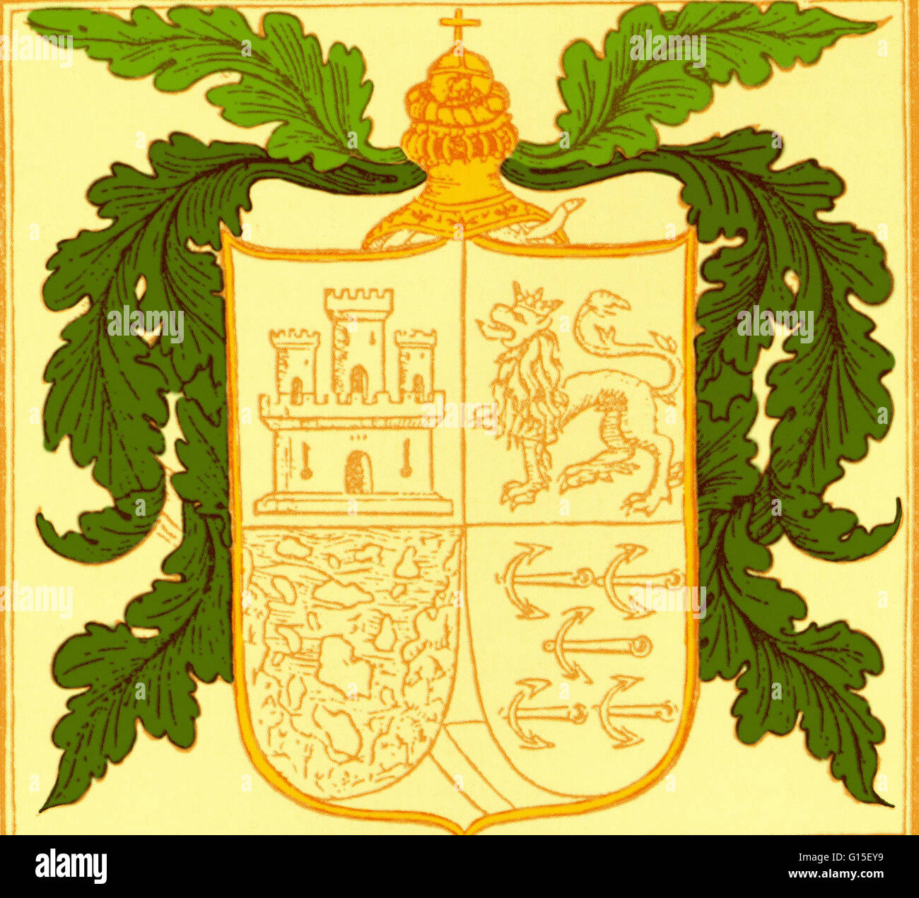 hight resolution of coat of arms of christopher columbus