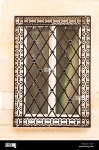 Decorative window grill Stock Photo: 104000809 - Alamy