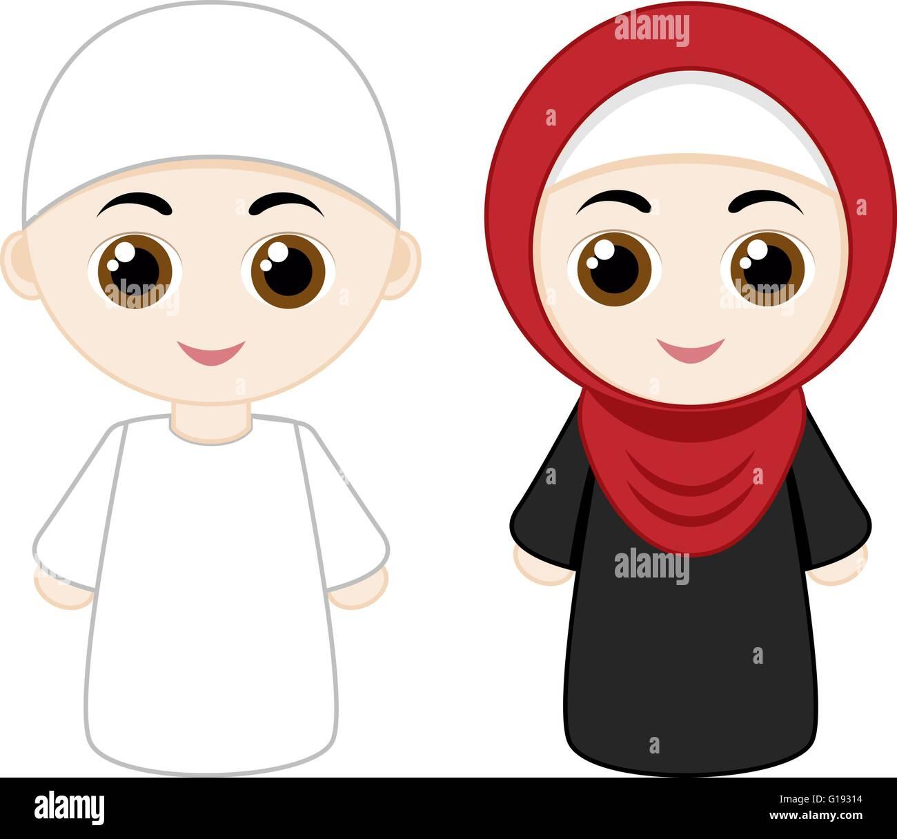 Muslim Love Couples Cartoon Images