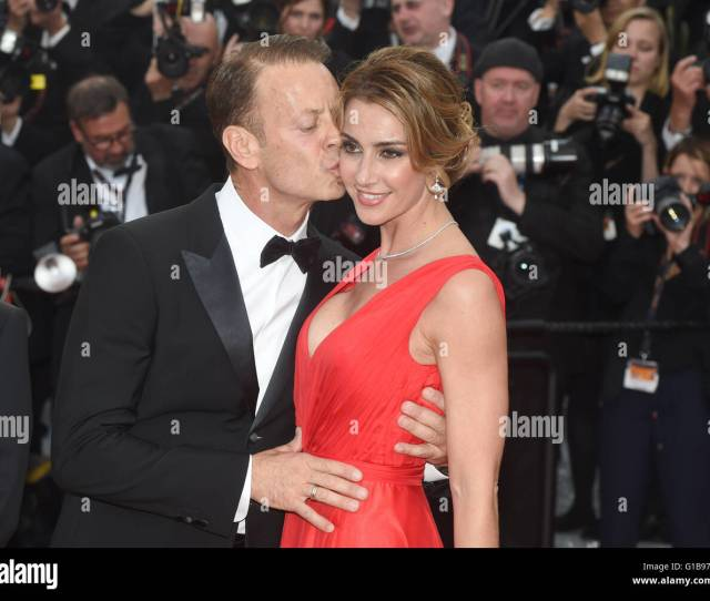 Italian Actor Rocco Siffredi And Partner Rosa Arrive For The Screening Of Money Monster During The 69th Annual Cannes Film Festival At Palais Des