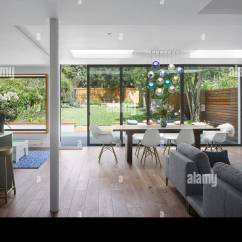 Living Room Extension Pictures Decor Ideas For Small Rooms Single Storey Mincheon Road London Open Plan And Kitchen With Modern Furniture Glass Sliding Doors Leading To The Patio