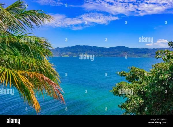 beautiful tropical landscape lake