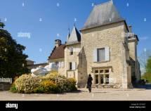 France Wine Castle Stock &