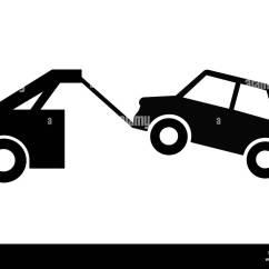 Vehicle Diagram Clip Art 1984 Yamaha Virago Wiring Or Car Towing Sign Illustration As