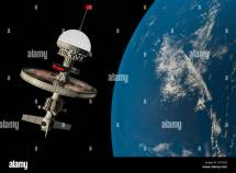 Futuristic Space Station Stock &