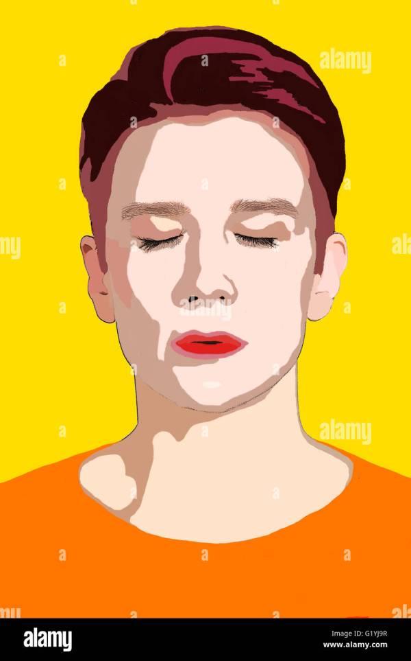 Popart Portrait Stock & - Alamy