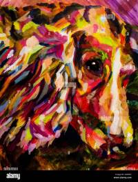 Art, painting, colorful, illustration, design, dog, animal