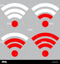 connection wireless and strength wi fi signal internet indicator level wifi vector flat design illustra [ 1300 x 1361 Pixel ]