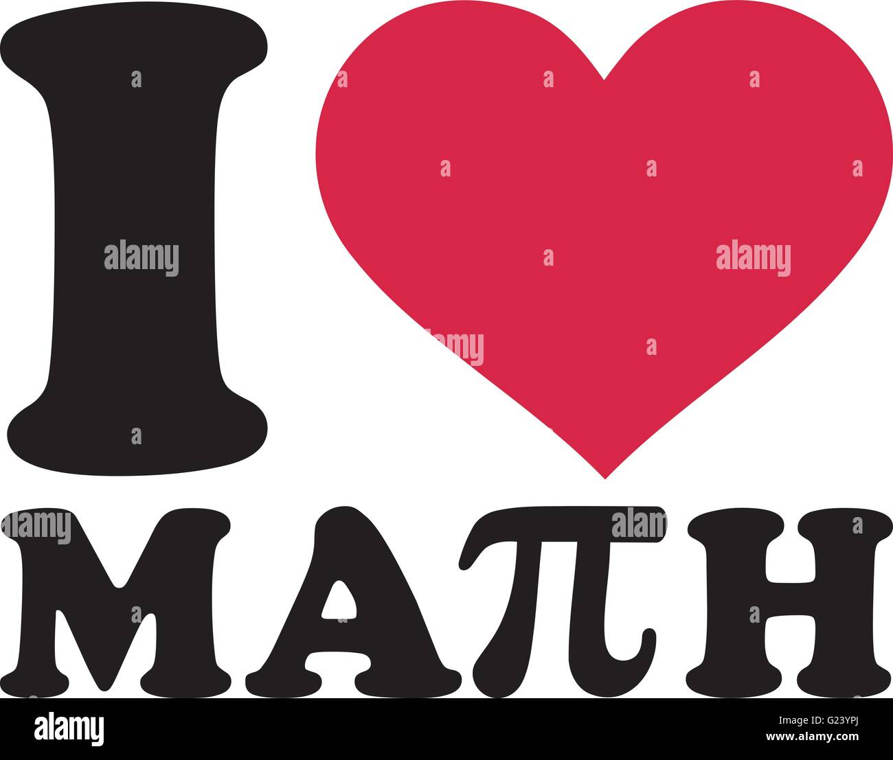 I Love Math With Pi Sign Stock Vector Art Amp Illustration
