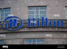 Hilton Hotel Sign Logo Stock 104605133 - Alamy