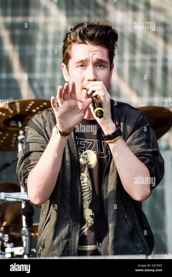 Lead Singer Of Bastille Dan Smith Performs Stage