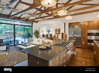 Open Floor Plan of House with Kitchen, Living Room and ...