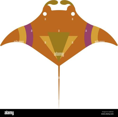 small resolution of manta ray on white background