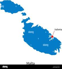 Valletta Malta Map