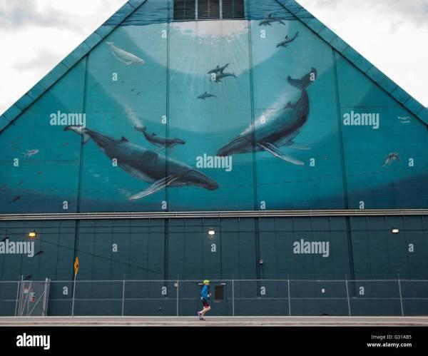 Blue Mural Stock & - Alamy