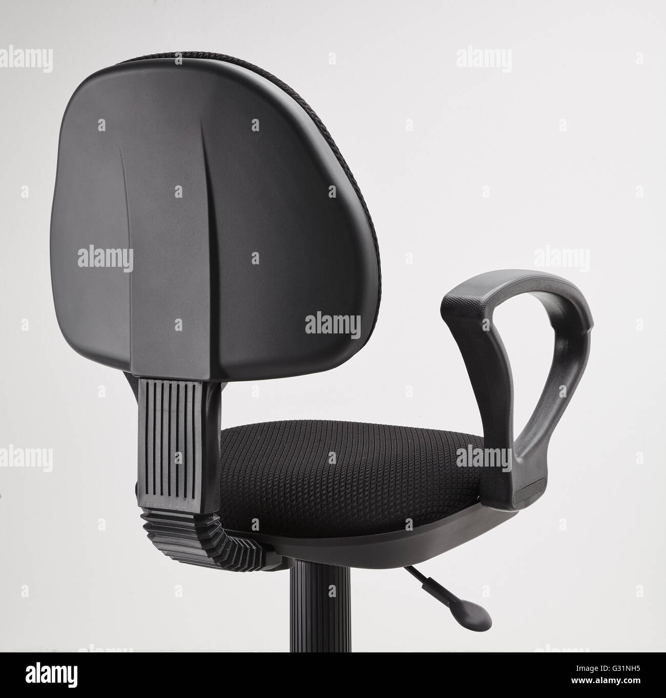 chair on wheels covers bulk sale back view of black office swivel with a mechanism for adjusting the height isolated white background
