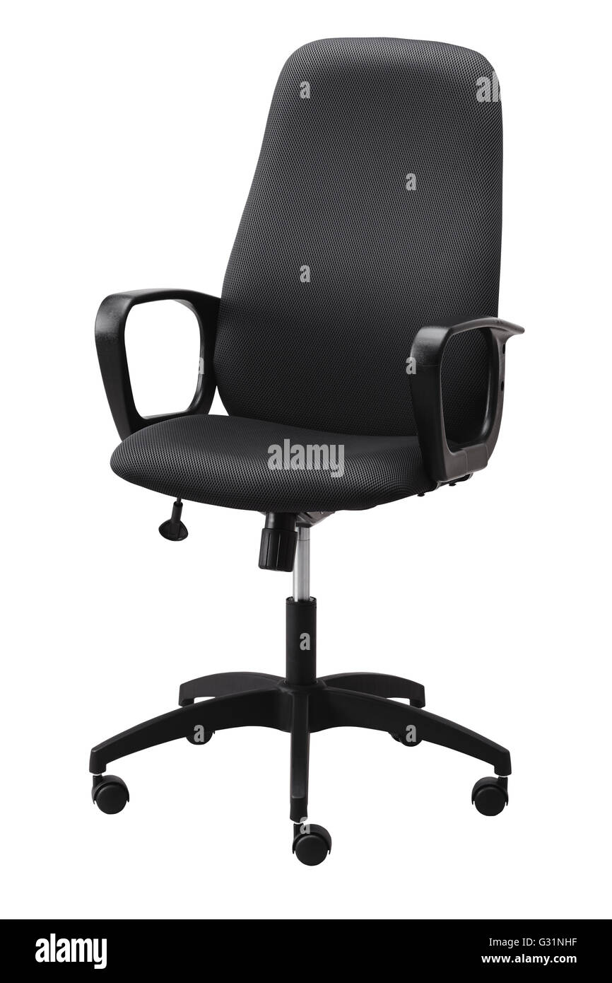 Chair On Wheels Side View Of Black Office Swivel Chair On Wheels With A Mechanism