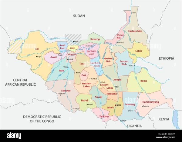 vector administrative and political map of the Republic of