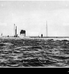 german u boat u9 stock image [ 1300 x 1023 Pixel ]