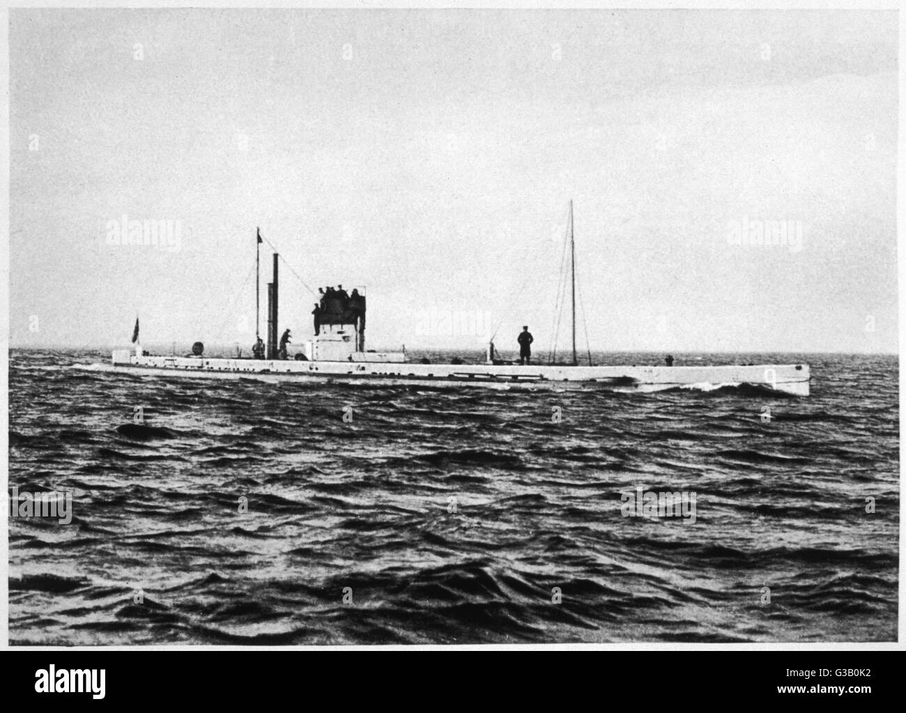 hight resolution of german u boat u9 stock image