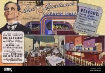 Main Street America 1940s Stock &