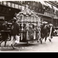 Chinese Wedding Sedan Chair Rent Tent And Tables Chairs 1930s Stock Photos Images