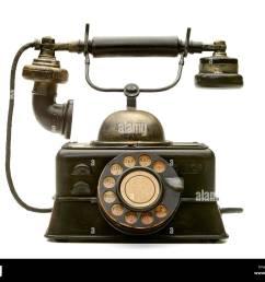 old vintage antique telephone [ 1300 x 1079 Pixel ]