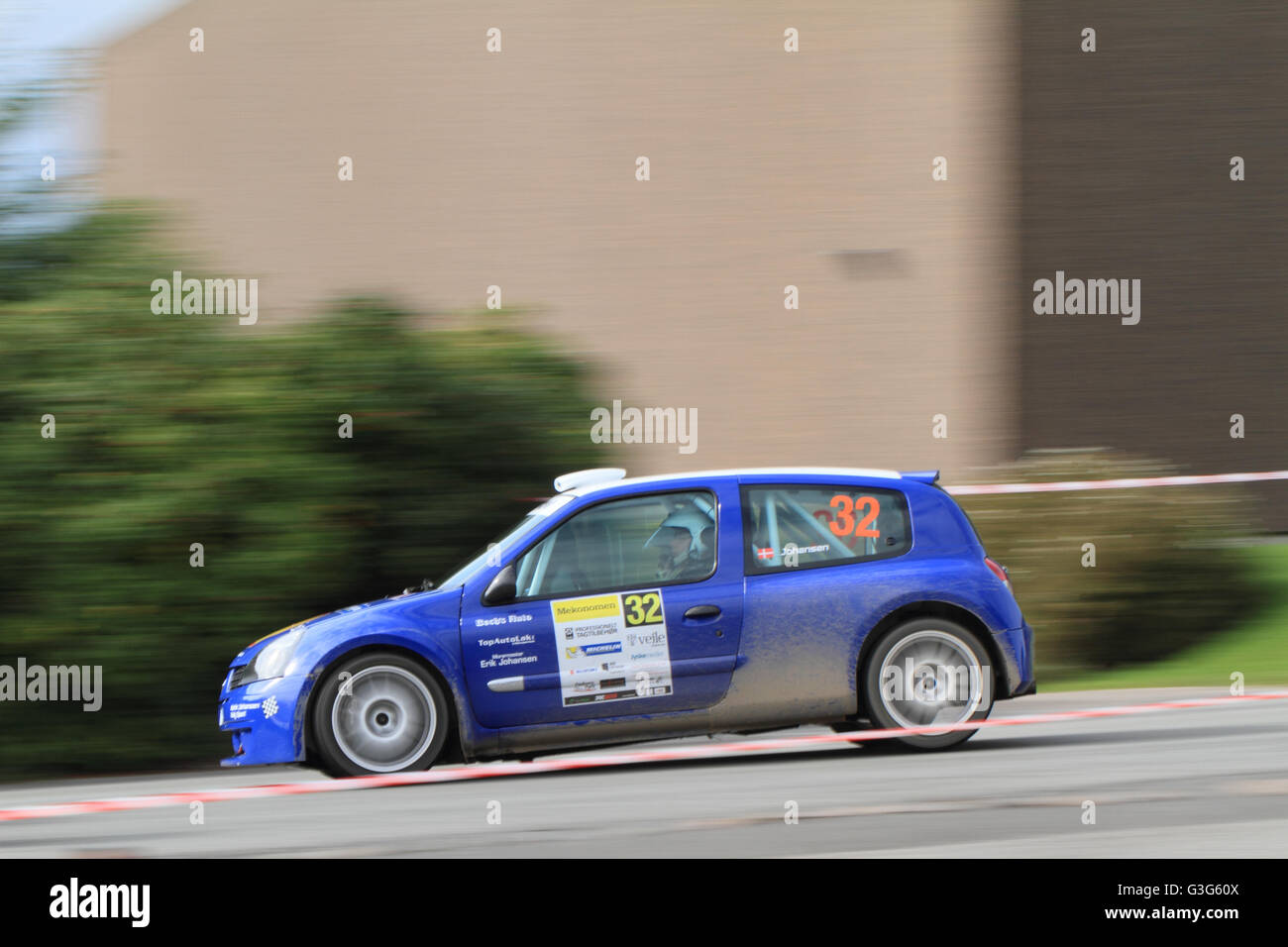 hight resolution of renault clio ii maxi 2000 raced at the 2013 mekonomen danish rally championships in vejle