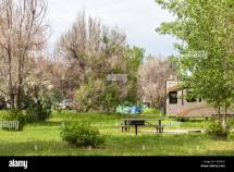 Summer Camping Cherry Creek State Park Colorado Stock