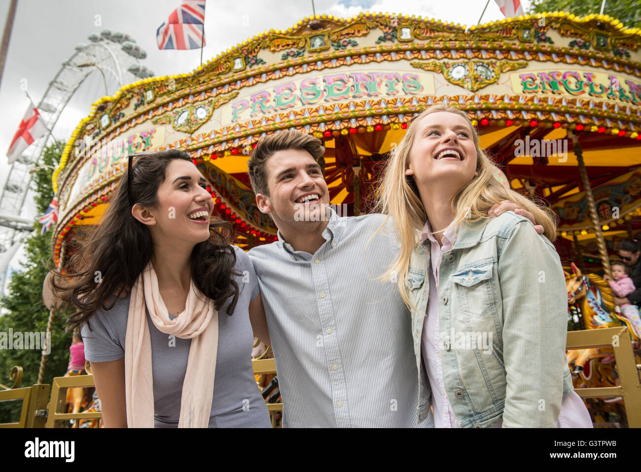 revolving chair thames rolling ride atlantic city carousel on the south bank stock photos and