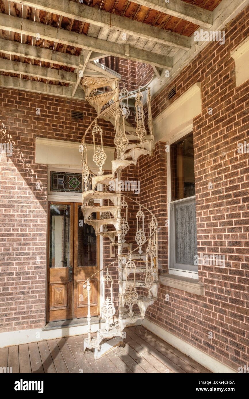 Cast Iron Spiral Staircase High Resolution Stock Photography And | Wrought Iron Spiral Staircase | Old | Plant Stand | Stair Case | Transitional | Narrow