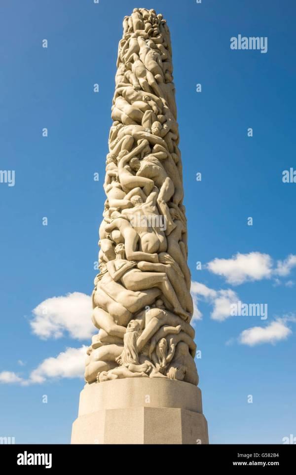 Monolith Gustav Vigeland Sculpture Park Oslo