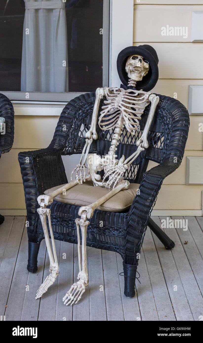 Skeleton Sitting Chair Stock Photos  Skeleton Sitting