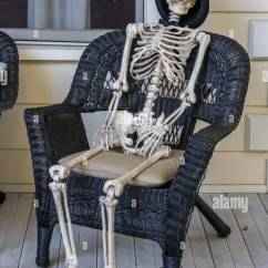 Rocking Reclining Chair Small Comfortable Skeleton Sitting Stock Photos & Images - Alamy
