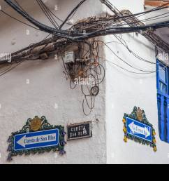 hazardous electrical wiring installation in cusco peru [ 1300 x 956 Pixel ]