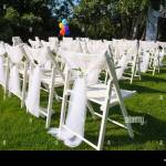 Folding Chairs On Lawn In High Resolution Stock Photography And Images Alamy