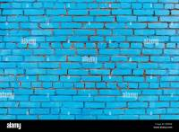 blue painted brick wall texture pattern, as background ...