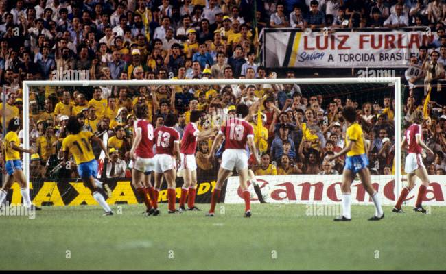 Soccer World Cup Spain 1982 Group Six Brazil V Ussr