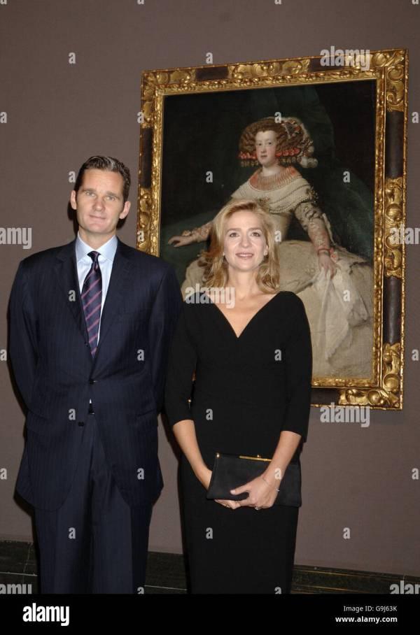 Inaki Urdangarin Infanta Cristina Stock &