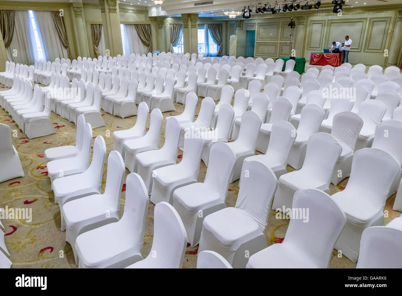 chairs wedding hall ergonomic chair journal marriage stage stock photos and images