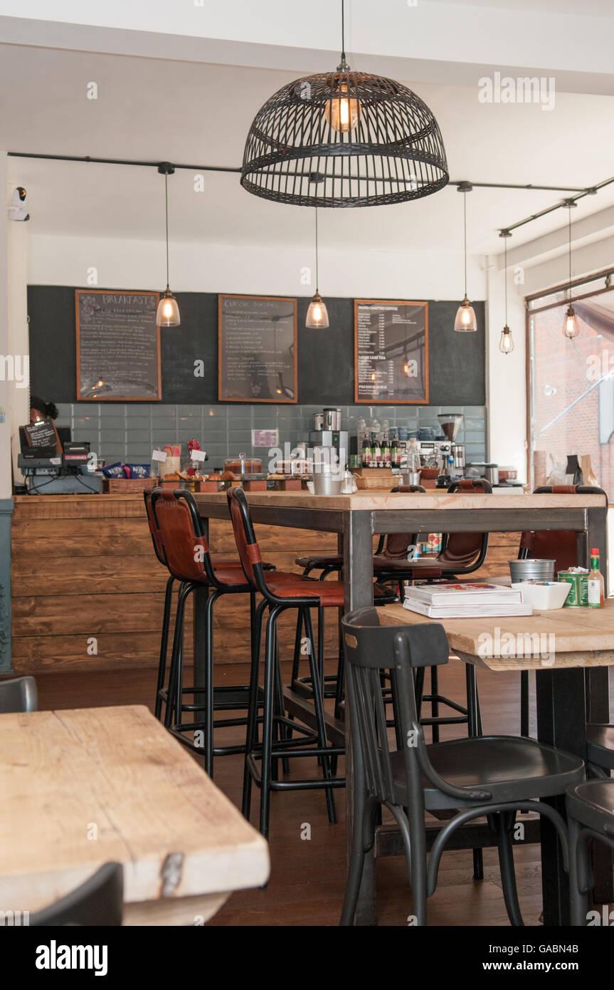 https www alamy com stock photo view inside a stylish rustic coffee shop 109666827 html