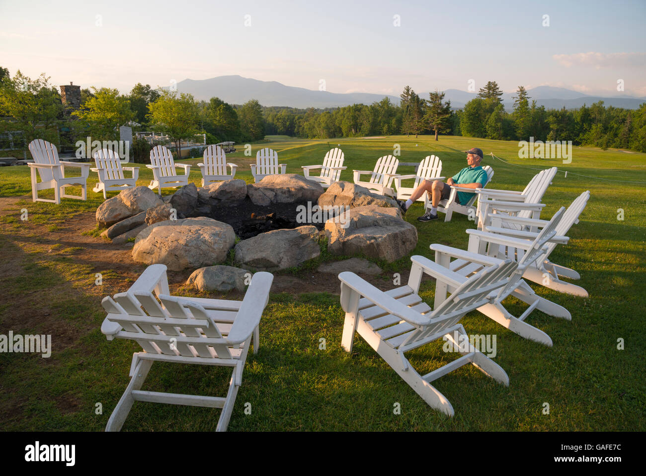 Chairs Around Fire Pit Adirondack Chairs Around Fire Pit Summer Mountain View
