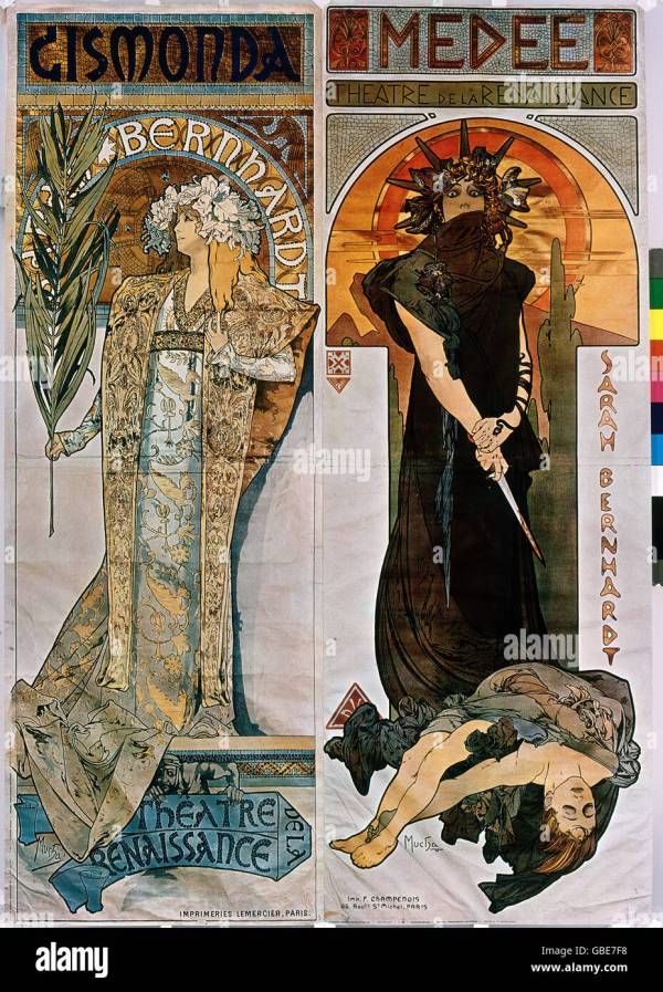 Fine Arts Mucha Alfons 1860 - 1939 Poster Advertising Posters Stock 110336668 Alamy