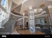 Interior Design Architecture Of Large Luxury Hotel Lobby