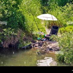 Fishing Chair Hand Wheel Tufted Leather Lounge Spinning Rod Stock Photos And Images Alamy