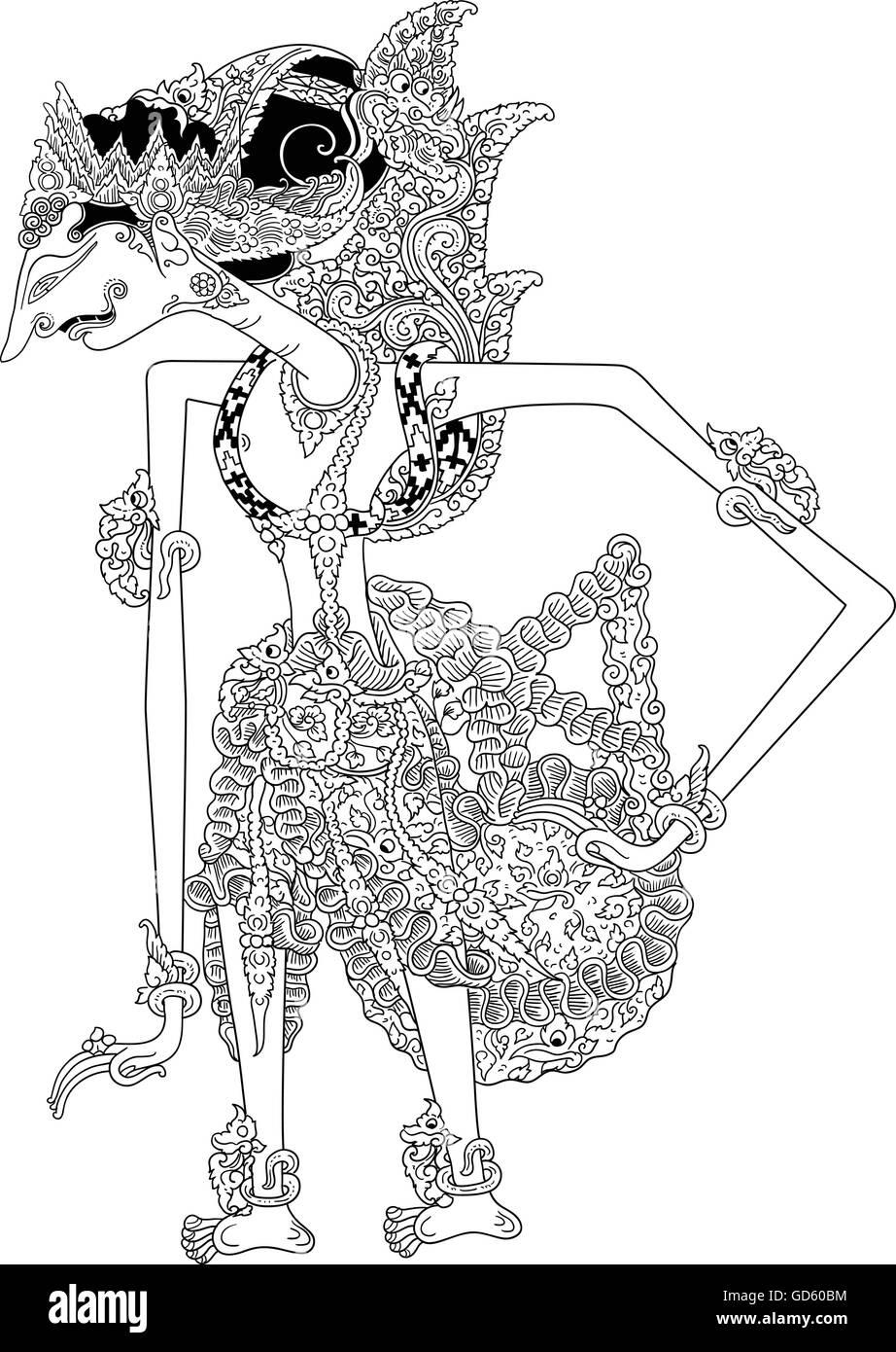 Wayang Rama Vector : wayang, vector, Dentawilukrama,, Character, Traditional, Puppet, Show,, Wayang, Kulit, Stock, Vector, Image, Alamy
